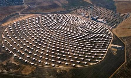 A solar power plant in Spain