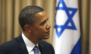 Barack Obama in Jerusalem, where he pledged staunch support for Israel