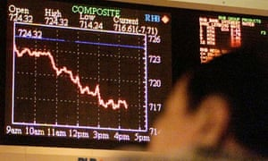 Short positions are about betting that prices will fall. Photograph: Andy Wong/AP