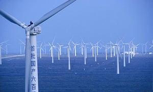The Dabancheng wind farm in China's Xinjiang province