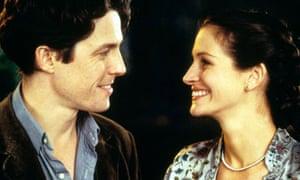 A self-deprecating Hugh Grant enchants Julia Roberts in the film Notting Hill