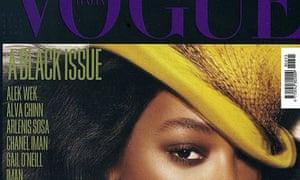 Jourdan Dunn on the cover of Italian Vogue