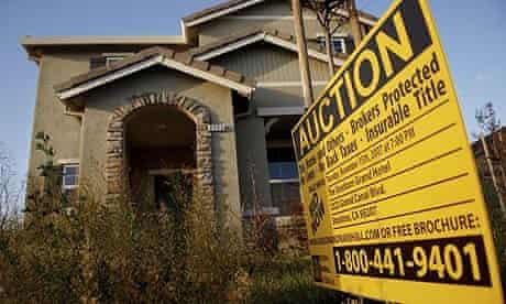A home under foreclosure in Stockton, California
