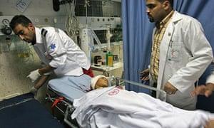 Medics treat Moussa