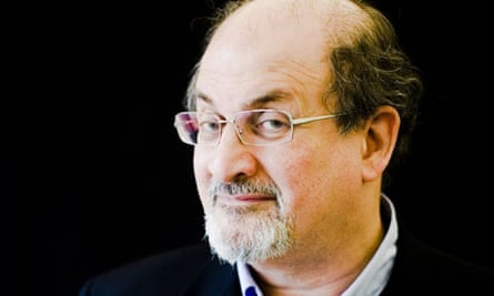 Salman Rushdie photographed at The Guardian Hay festival 2008