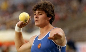 Athlete Heidi Krieger of the former German Democratic Republic