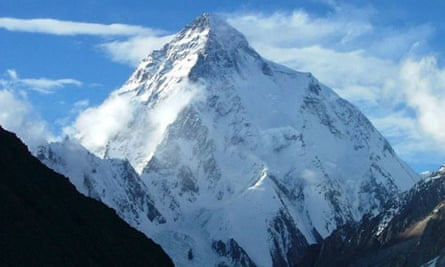 K2, the world's second highest mountain, in the Himalayas mountains range of Pakistan