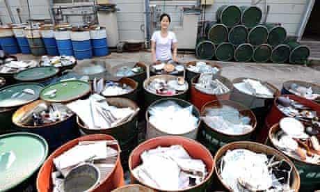 Sonae Fujii at the waste recycling centre in Kamikatsu, Japan