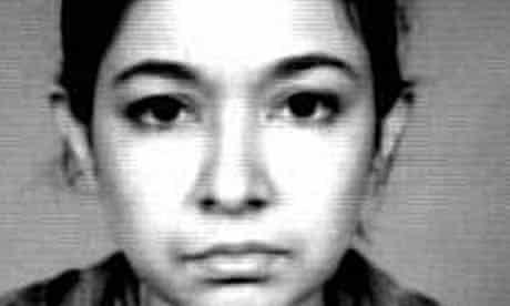 An FBI picture of Aafia Siddiqui, released in 2003
