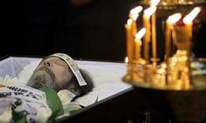 The body of Aleksandr Solzhenitsyn lies at the Donskoi monastery in Moscow