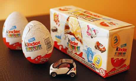 A kinder surprise chocolate egg