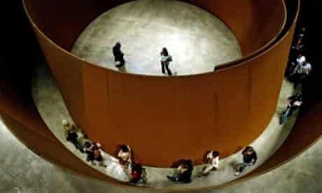 An installation by the American artist Richard Serra at the Guggenheim