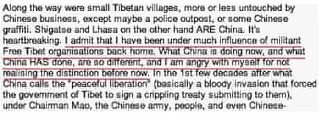 Extract from 'A Short Stay in Tibet'