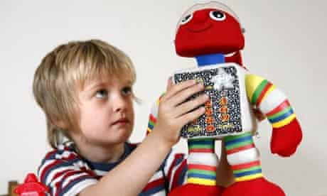 Red the Robot a toy designed to teach children to read