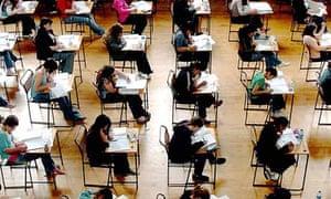 School exams in progress