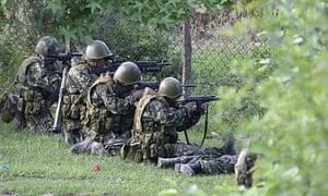 Russian troops in Khurcha