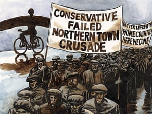 13.08.08: Steve Bell on the north south divide
