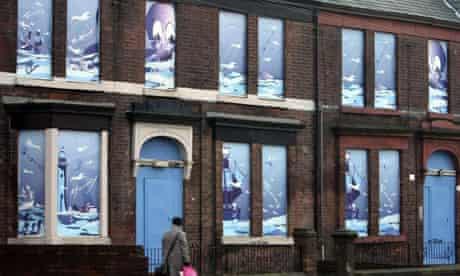 Derelict houses in Liverpool