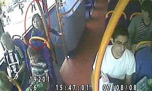 CCTV image of Xi Zhou on a bus two days before she was found murdered