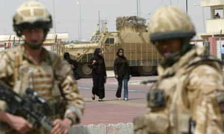 British soldiers in Basra