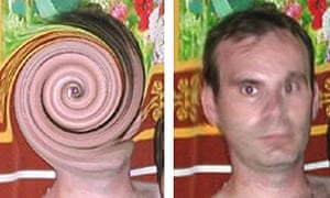Interpol unscrambled images of Christopher Neil with a 'swirly face' that were posted on the internet.