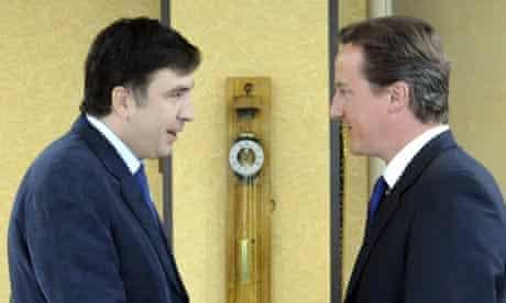 Mikheil Saakashvili and David Cameron