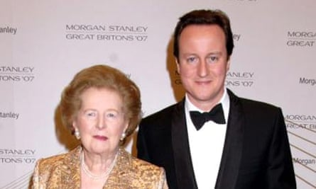 David Cameron and Margaret Thatcher