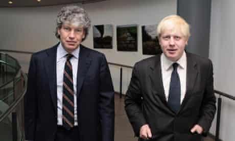 Tim Parker and Boris Johnson