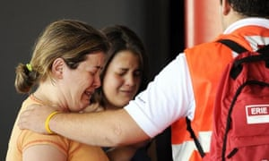 Relatives of the victims of the Barajas airport crash