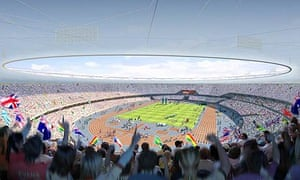 An artist's impression of the Olympic stadium for the London 2012 Olympics