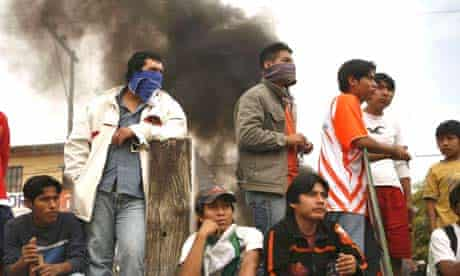 Supporters of Bolivia's ruling MAS party