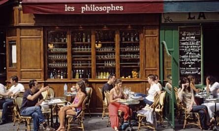 Cafe on Rue Vieille du Temple, Paris