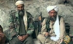 Osama bin Laden, left, with his top lieutenant Egyptian Ayman al-Zawahiri, in one of al-Qaida's own propaganda videos
