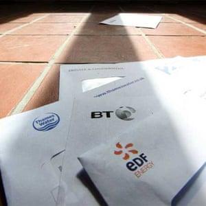 Utility bills: BT, EDF, Thames Water