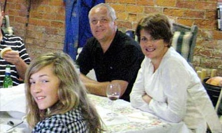 Christopher Foster, his wife Jill and their daughter Kirstie who went missing after their mansion was burned down