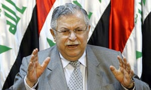 Jalal Talabani, the president of Iraq. Photograph: EPA