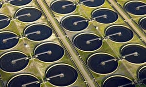 Sewage treatment plant in London