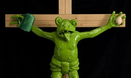 crucified frog by Kippenberger
