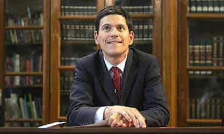 David Miliband listens during a meeting with students at the National University Kyiv-Mohyla Academy, in Kiev.