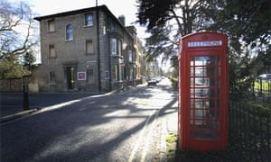 A red telephone box in Brookside, Cambridge. Photograph: Graham Turner
