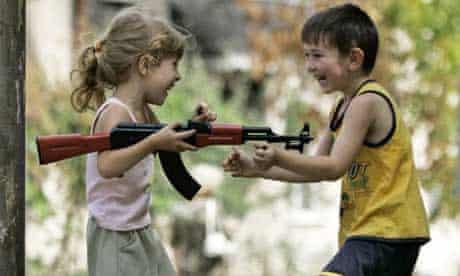 Children in the Georgian capital