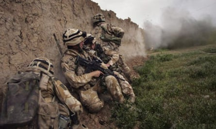 Royal Marines on a mission in Afghanistan