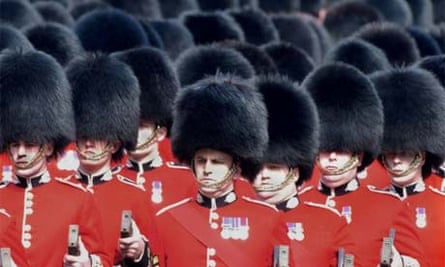 The British army's towering bearskin hats