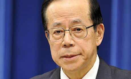 Japanese Prime Minister Yasuo Fukuda announces his resignation