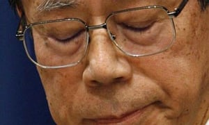 Japan's prime minister, Yasuo Fukuda, announces his resignation at a press conference held at his official residence in Tokyo