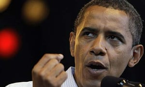 Barack Obama speaks at a rally in Milwaukee
