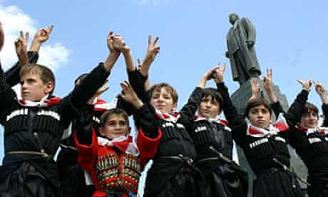 Georgian boys in Gori