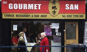 The Gourmet San restaurant in Bethnal Green Road. Photograph: Katherine Rose