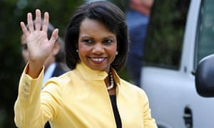 Condoleeza Rice on her way to Libya. Photograph: Miguel Riopa/AFPCondoleeza Rice on her way to Libya. Photograph: Miguel Riopa/AFP