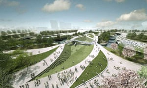 An artist's impression of the Olympic Park for 2012